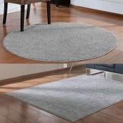Kit Tapete Cinza Classic 1,50 x 2,00 m Redondo 1,00 m Oasis