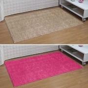 Kit Tapete Passadeira Classic 50 x 1,00 m Trigo Bege e Pink