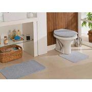 Tapete Para Banheiro Natura Algodão 3 Peças Cinza Oasis