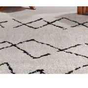 Tapete para Sala 150 x 200 cm Art Black e White Desenho 02 Oasis