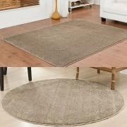 Tapetes Sala Classic 1 Redondo 200 cm e 1 200 x 300 cm Trigo