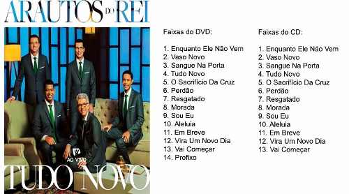 Dvd + Cd Tudo Novo Ao Vivo Arautos Do Rei - Novo Tempo