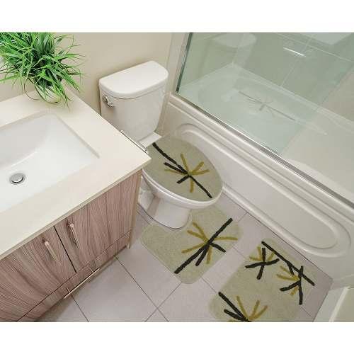 Kit Tapete Banheiro 3 Peças 100% Algodão Dominicana Sultan