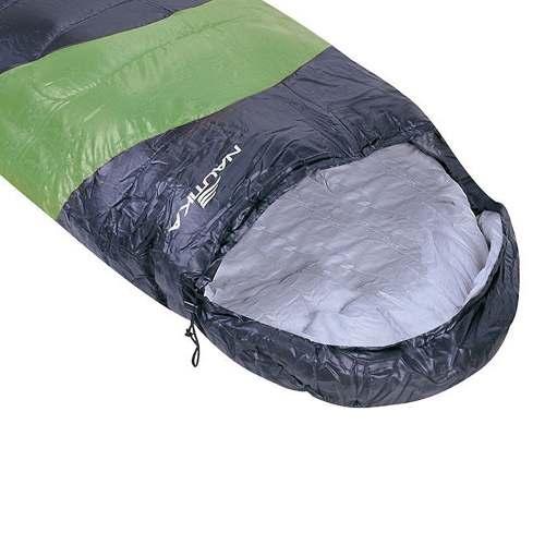 Saco De Dormir Térmico com Capuz 5ºc A 12ºc Viper Verde Preto Nautika