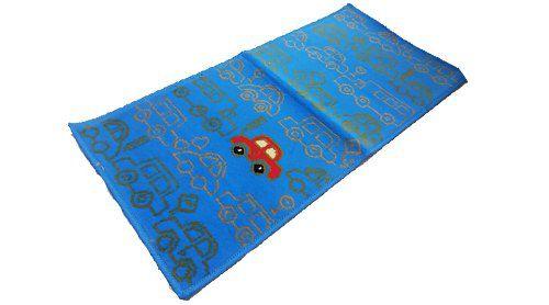 Tapete Passadeira Azul Quarto Infantil 50 x 100 cm Corrida Carro