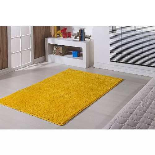 Tapete Sala Classic 2,00 X 2,00 Quadrado Amarelo Canario