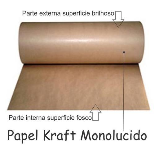 2 Bobina De Papel Kraft Mono-lucido 80g 60cm Pardo - 20 Kg