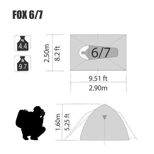 Barraca Iglu Sobre Teto Fox 6/7 Pessoas Nautika