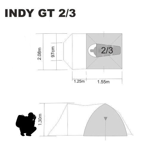 Barraca Iglu Sobre Teto Indy Gt 2/3 Pessoas Nautika