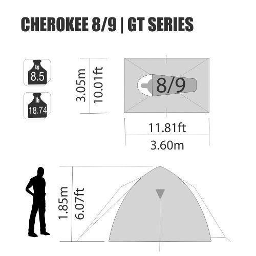 Barraca Iglu Sobre Teto Cherokee Gt 8/9 Pessoas Nautika