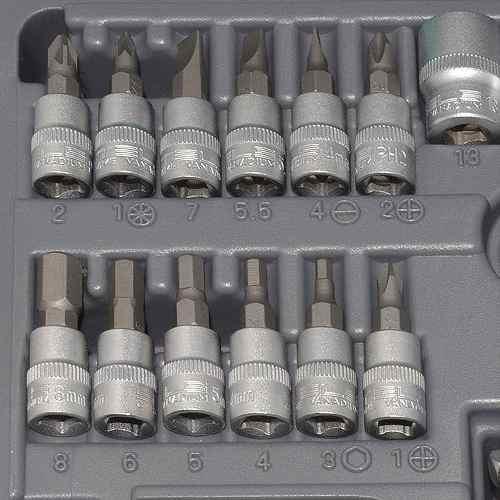 Jogo Chave Catraca Soquetes 1/4 A 13mm Cromo Vanadio 29 Peças Stels