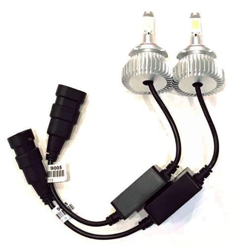 Par Lampadas Super Led Xenon  H27 6000 k 4400 Lumens