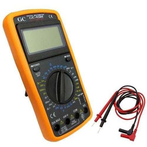 Multímetro Digital Aviso Sonoro Leitor com Capa GC-9205a