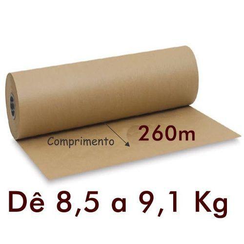 Bobina de Papel Kraft Mono-lucido Pardo 80g 40 cm X 260 m
