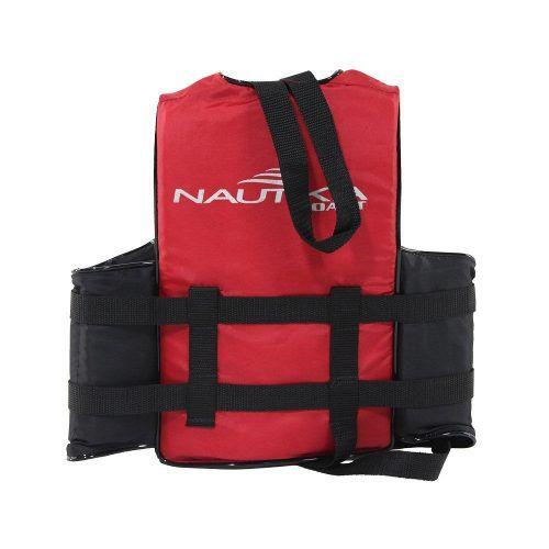 Colete Salva Vidas Coast Vermelho Nautika 30kg