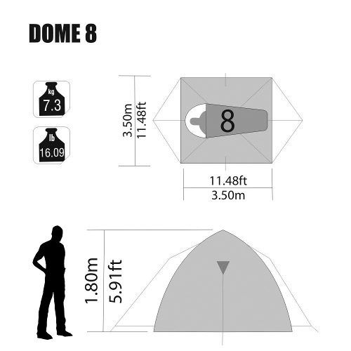 Barraca Iglu Sobre Teto Dome 8 Pessoas Nautika