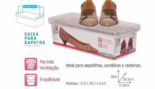 Caixa Organizadora Para Sapato Pequena Ordene
