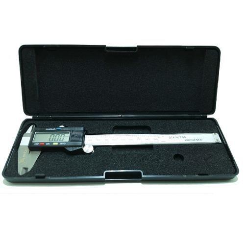 Paquímetro Digital 150mm Inox Profissional com Estojo