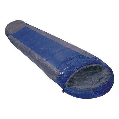 Saco De Dormir com Capuz Sarcófago -1ºc A 8ºc Mummy Azul Cinza Nautika