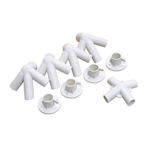 7 Kit De Conexões Para Gazebo 9 Peças Branco Nautika