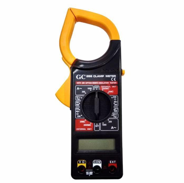 Alicate Amperímetro Digital Multímetro Estojo Bateria GC-266