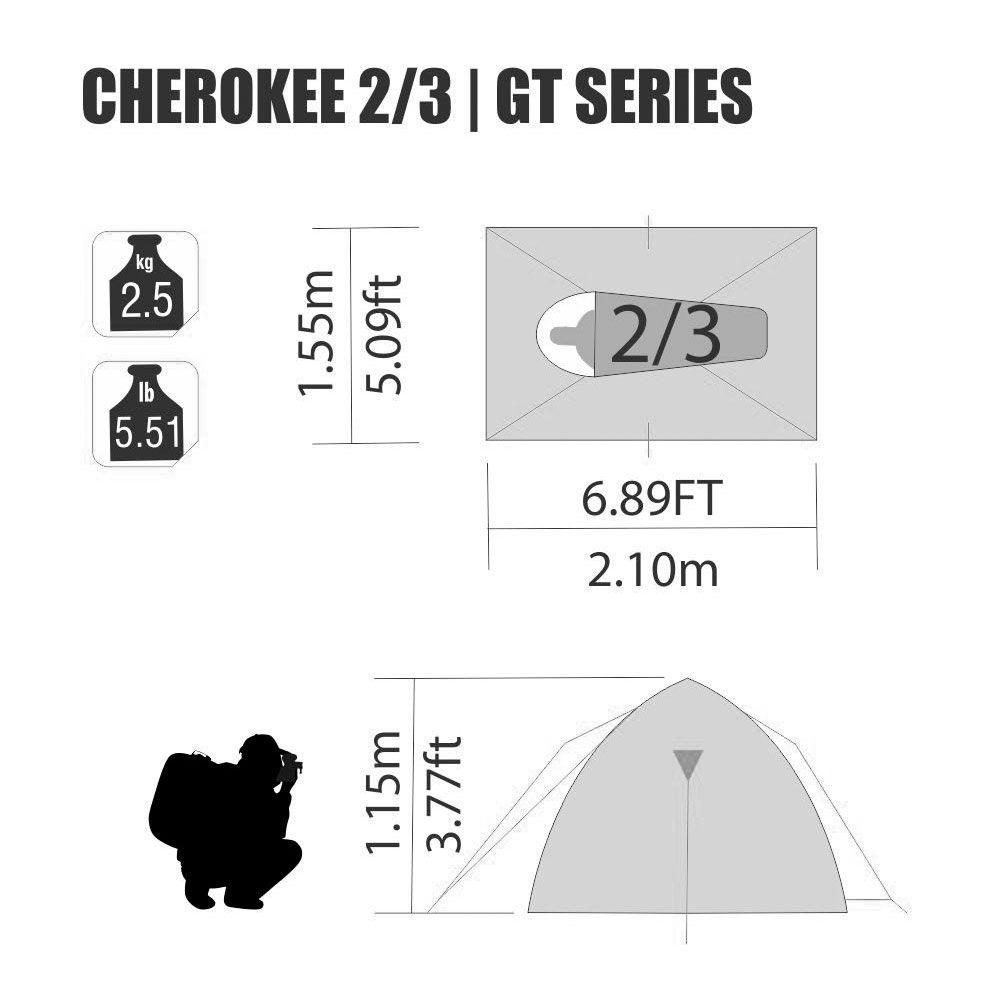 Barraca Iglu com Sobreteto Completo Cherokee GT 2/3 Pessoas