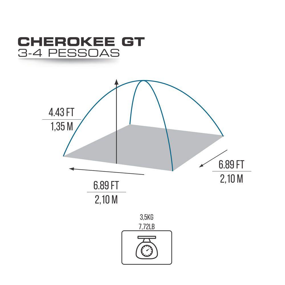 Barraca Iglu com Sobreteto Completo Cherokee GT 3/4 Pessoas