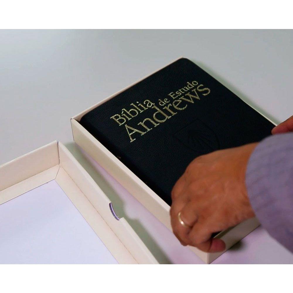 Bíblia De Estudos Andrews Capa Couro Legitimo CPB
