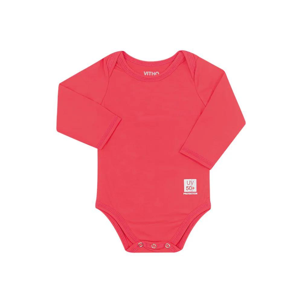 Body para Bebê com Proteção Solar UV 50+ Manga Longa Orange Vitho