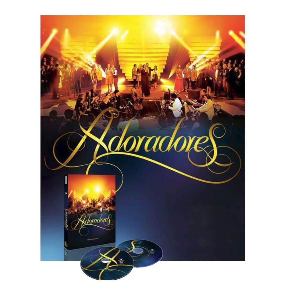 Box DVD e CD Adoradores - Venha Adorar Ao Vivo Novo Tempo