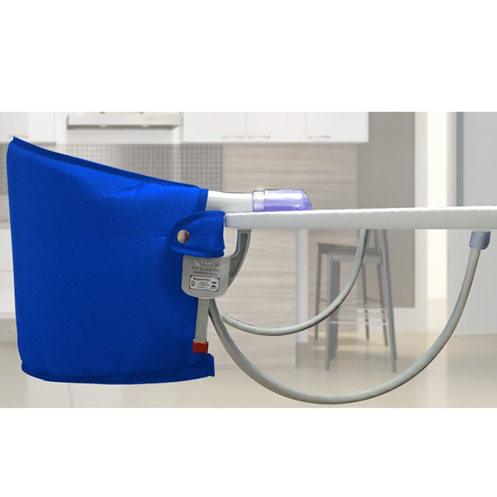 Cadeira de Alimentação Portatil Suspensa Infantil Azul Sapeca Kids