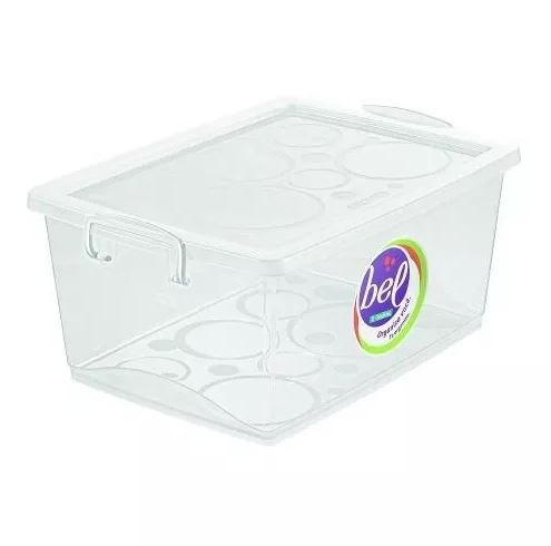 Caixa Organizadora Com Trava 15 L Cristal Ordene