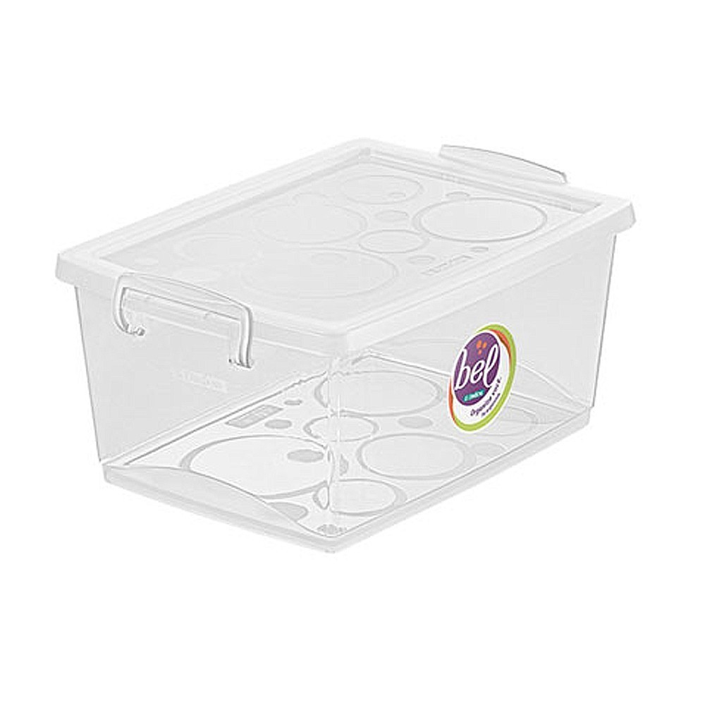 Caixa Organizadora Com Trava 4 L Cristal Ordene