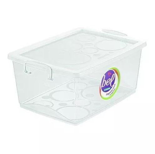 Caixa Organizadora Com Trava 60 L Cristal Ordene