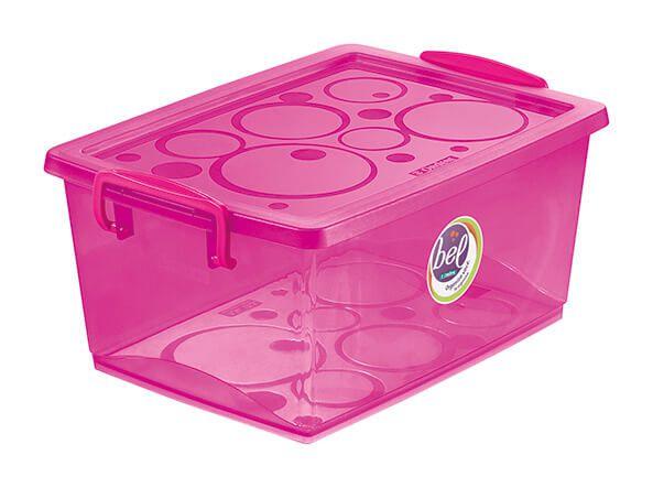 Caixa Organizadora Com Trava 60 L Pink Ordene