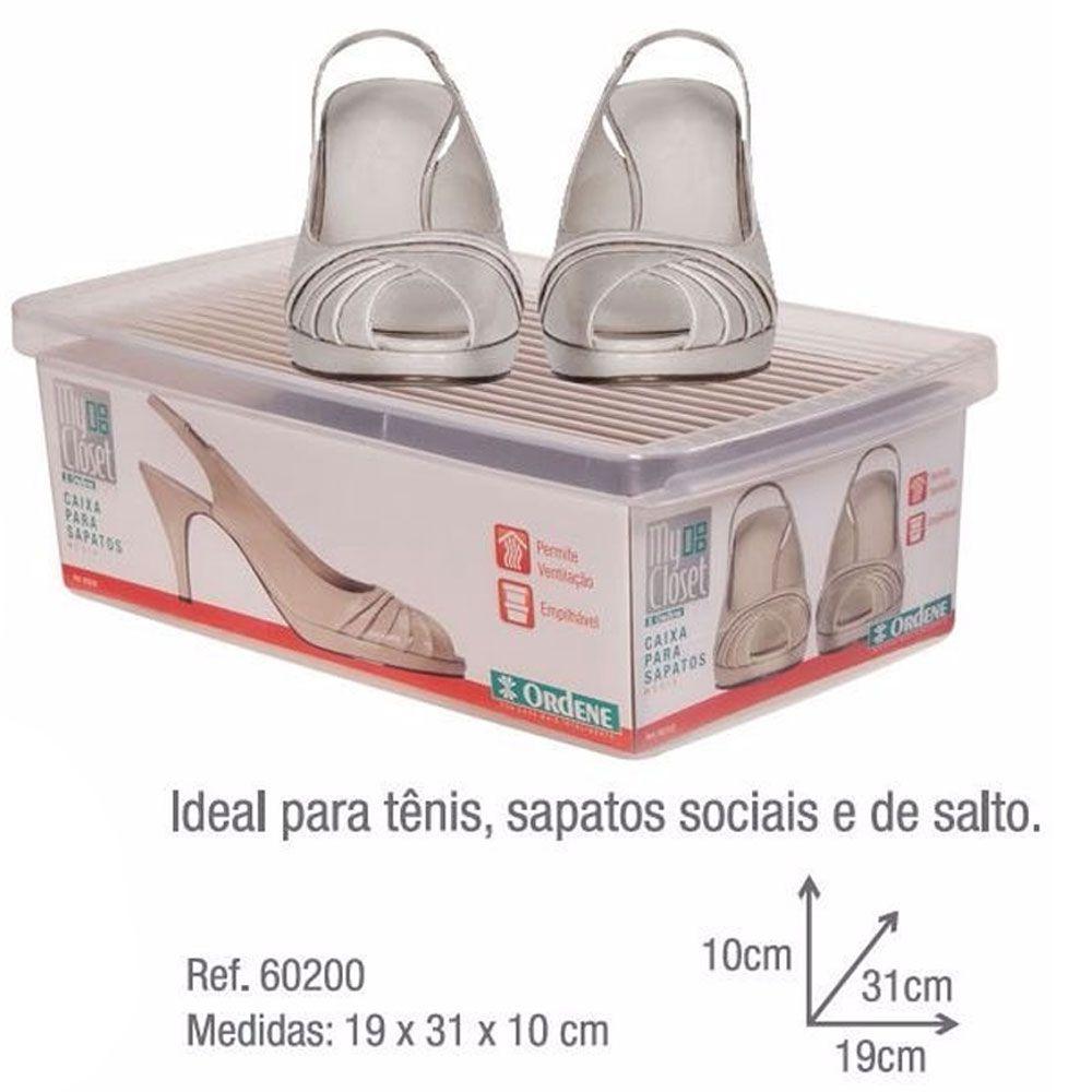 Caixa Organizadora Para Sapatos Média Feminino Masculino Organização