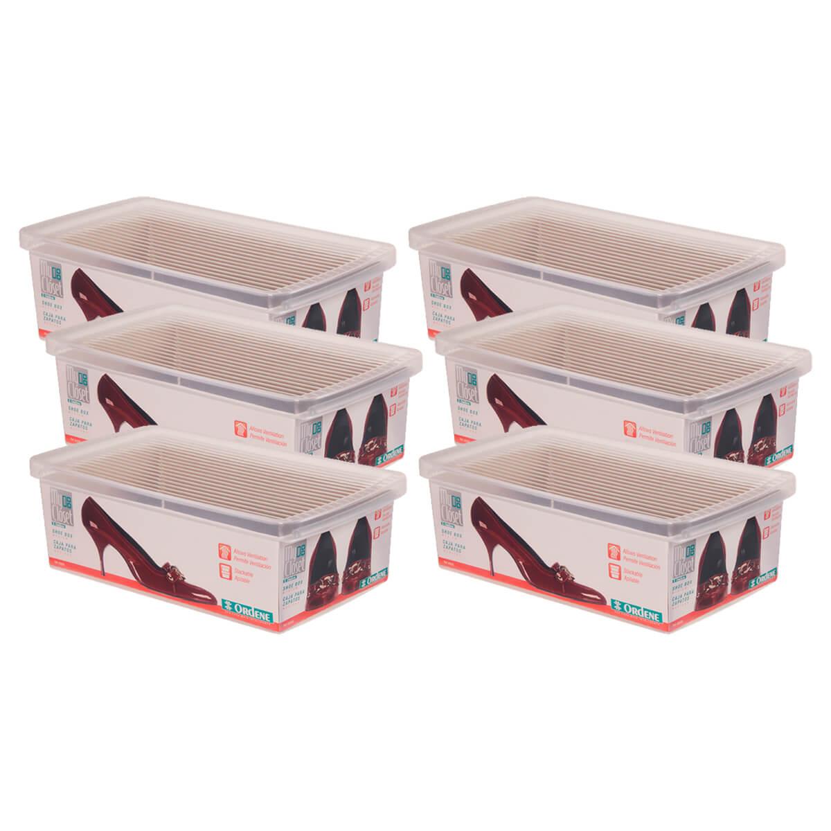 Caixa Organizadora Para Sapatos Média Leve 6 e Pague 5 Ordene