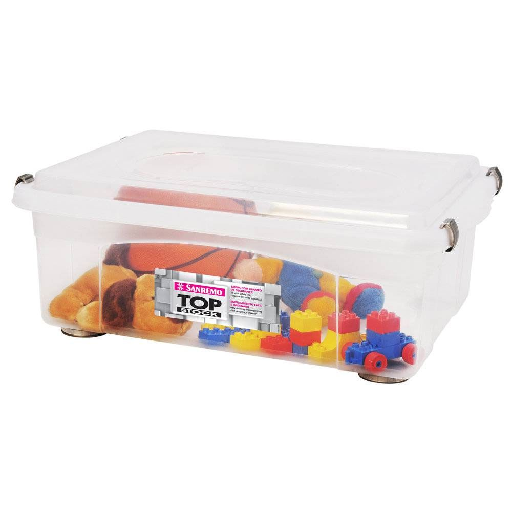 Caixa Organizadora Plástico Medio Top Stock 42l Sanremo