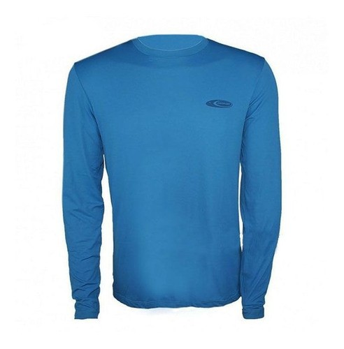 Camiseta Cardume Softline Proteção UVA e UVB 50 FPS Azul P ao G1