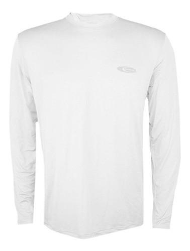 Camiseta Cardume Softline Proteção UVA e UVB 50 FPS Branca GG