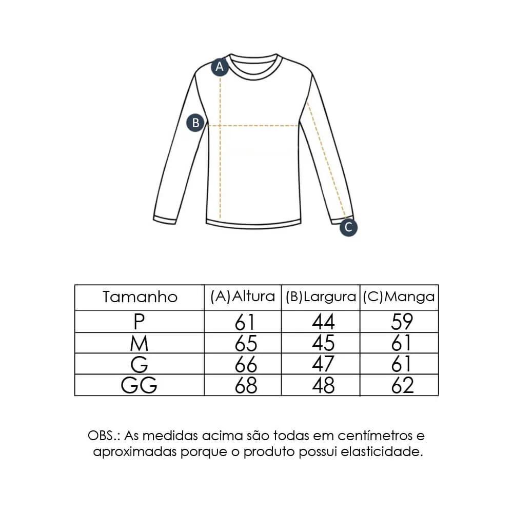 Camiseta Feminina com Proteção Solar UV 50+ Manga Longa Preto Vitho