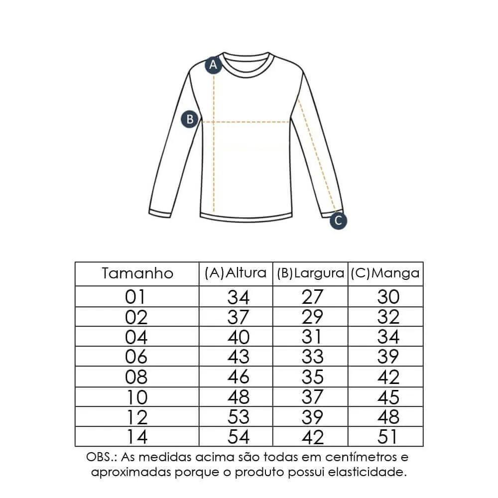 Camiseta Infantil com Proteção Solar UV 50+ Unissex Manga Longa Amarelo Vitho