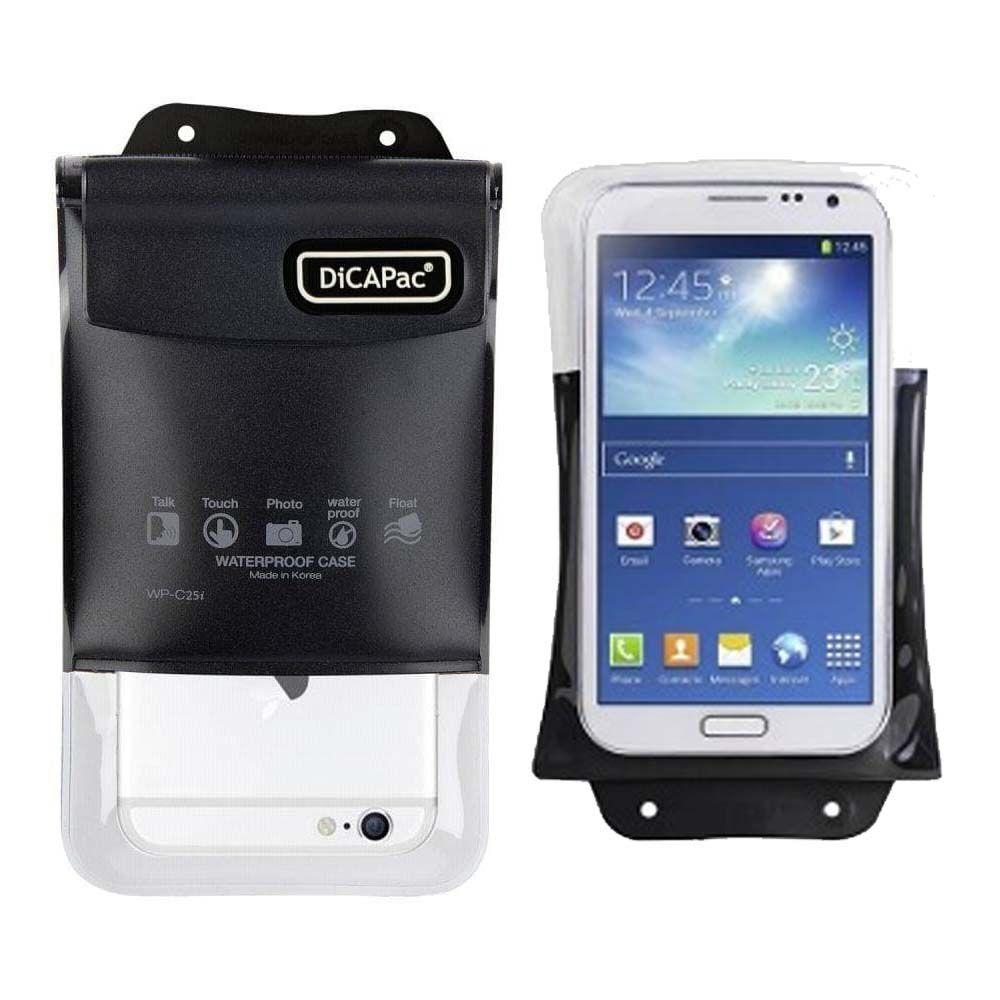 Capa a Prova D'água para Smartphone Preto WP-C25i DiCaPac