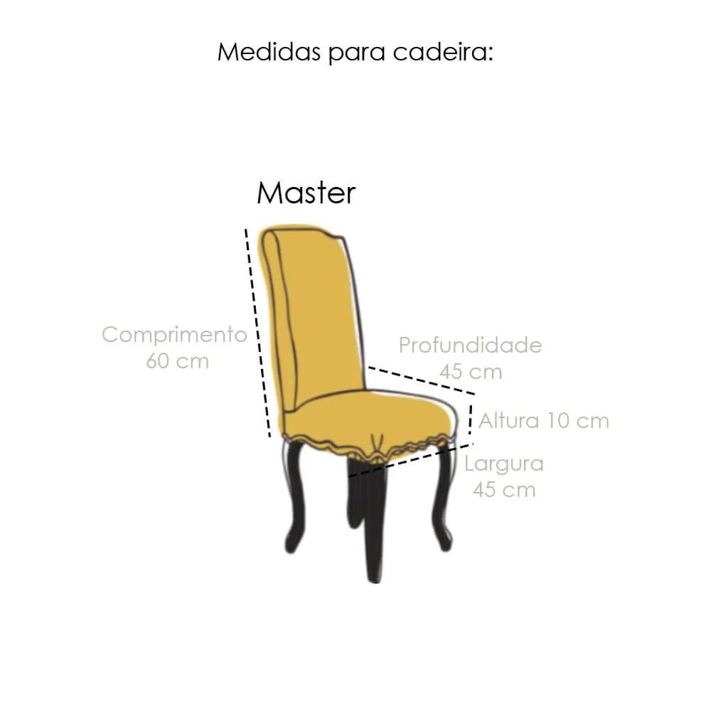 Capa de Cadeira Master Flexível Cinza Sultan
