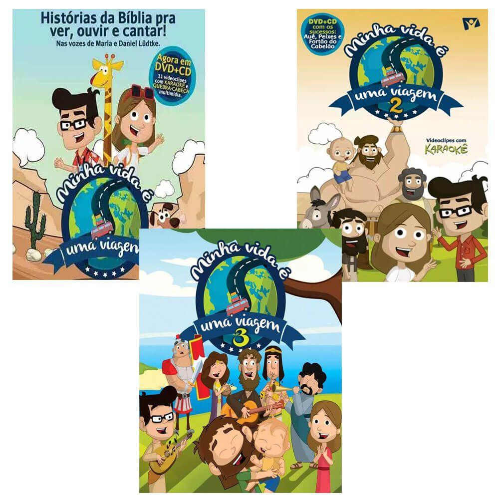Coleção 3 DVD e CD Minha Vida é uma Viagem VL 1, 2 e 3