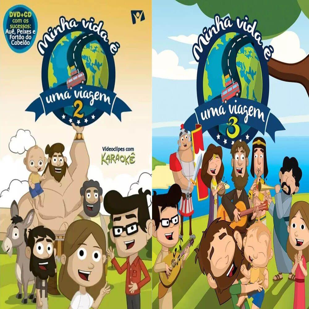 Coleção Dvd E Cd Minha Vida É Uma Viagem Volumes 2 E 3 Novo Tempo