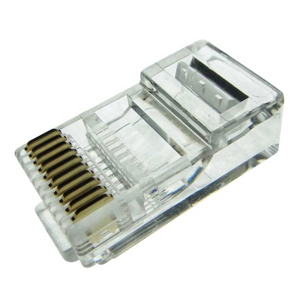 Conector RJ50 Plug Modular 10 Vias 10 x 10 - 25 Unidades