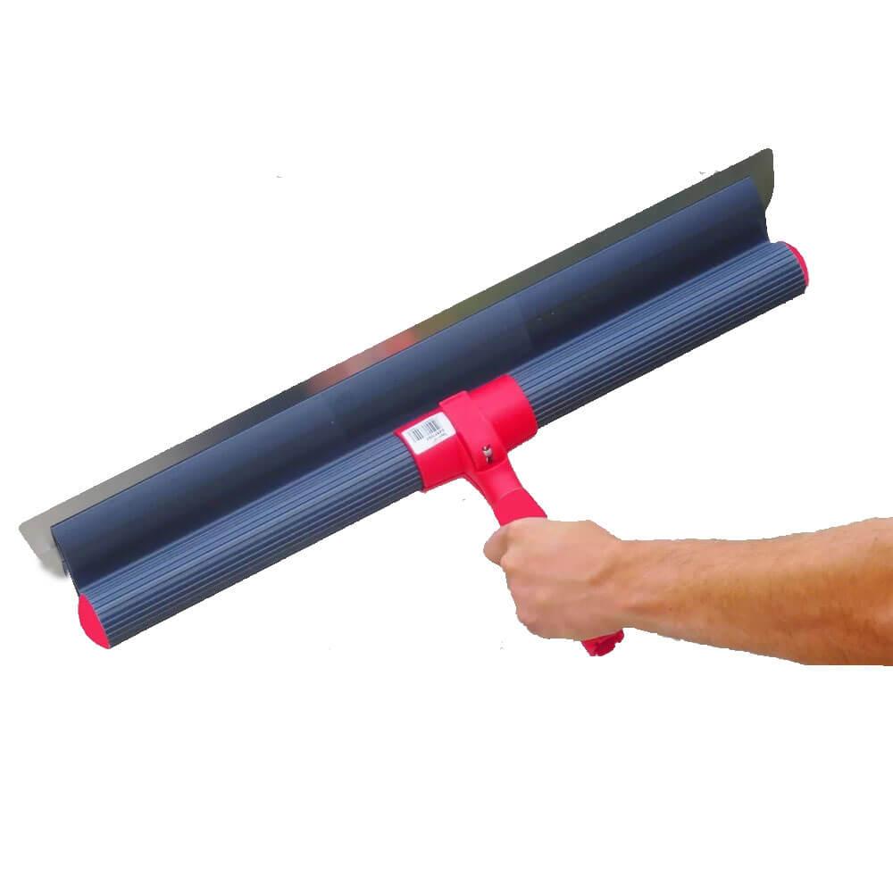 Conjunto Desempenadeira de Aço 60 cm e Suporte Prolongador Berox