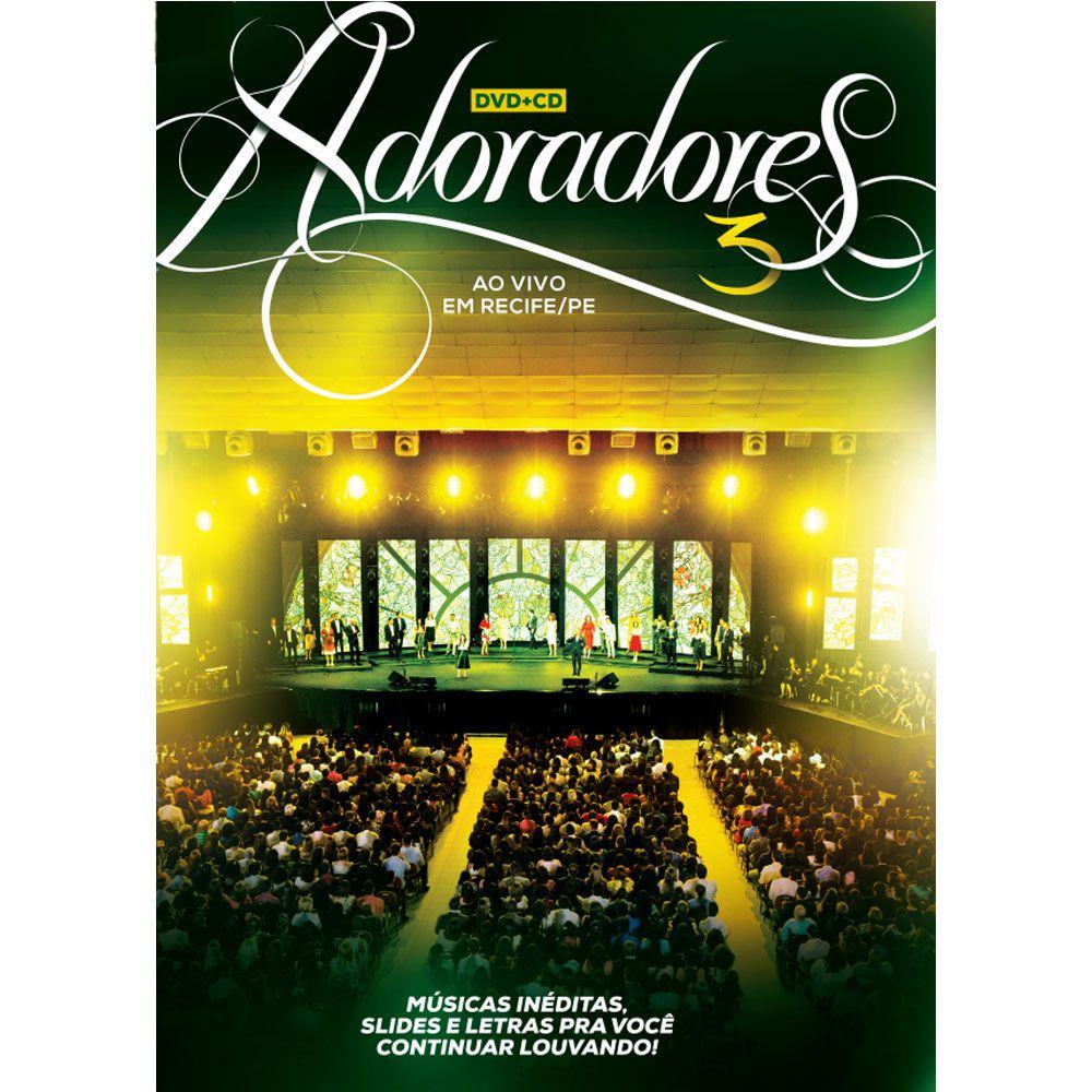 Box DVD e CD Adoradores 3 Ao Vivo Em Recife Novo Tempo