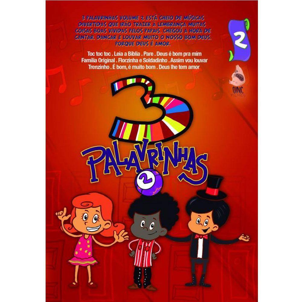 DVD Musical Infantil 3 Palavrinhas Volume 2